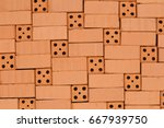 Small photo of basement replay pattern with different red bricks