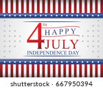 happy 4th of july . happy... | Shutterstock .eps vector #667950394