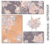 set of creative business card... | Shutterstock .eps vector #667950439
