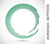 lines in circle form. vector...   Shutterstock .eps vector #667957333