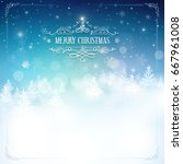 magic christmas background with ...   Shutterstock .eps vector #667961008