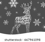 vintage christmas postcards...   Shutterstock .eps vector #667961098