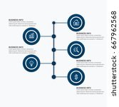 data elements for template... | Shutterstock .eps vector #667962568