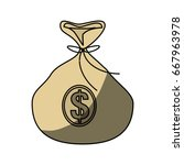money bag symbol | Shutterstock .eps vector #667963978