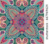 india seamless paisley pattern  ... | Shutterstock .eps vector #667969624