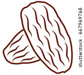 date palm dry fruits outline... | Shutterstock .eps vector #667969768