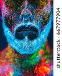 concept. portrait of a bearded... | Shutterstock . vector #667977904