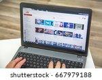 paris  france   january 27 ... | Shutterstock . vector #667979188