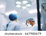 breast augmentation ... | Shutterstock . vector #667980679
