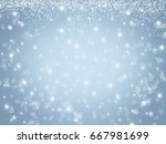 christmas snow winter background | Shutterstock . vector #667981699