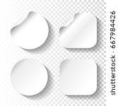 vector set of white paper...   Shutterstock .eps vector #667984426