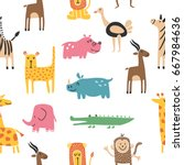 vector seamless pattern with...   Shutterstock .eps vector #667984636