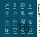 set of thin line modern icons.... | Shutterstock .eps vector #667987024
