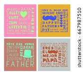 vector set of greeting card of...   Shutterstock .eps vector #667987510