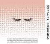 eye lashes vector icon. lashes... | Shutterstock .eps vector #667988539