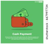 cash payment with indian rupees ... | Shutterstock .eps vector #667997734