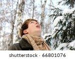 happy smiling teenager in... | Shutterstock . vector #66801076