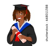 young colored skinned woman... | Shutterstock .eps vector #668011588