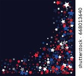 4th of july square vector...   Shutterstock .eps vector #668013640