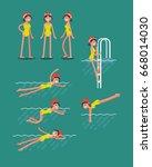 lovely vector illustration on... | Shutterstock .eps vector #668014030