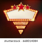colorful retro marquee stylish... | Shutterstock .eps vector #668014084
