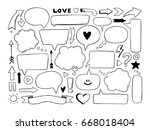 hand drawn vector illustration. ... | Shutterstock .eps vector #668018404