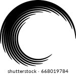 vector curved lines . design... | Shutterstock .eps vector #668019784