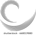 vector curved lines . design... | Shutterstock .eps vector #668019880