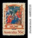 australia   circa 1999  a stamp ... | Shutterstock . vector #66802210