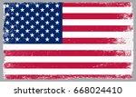 grunge american flag.usa... | Shutterstock .eps vector #668024410