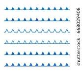 vector design of blue line sea  ...