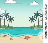 vector islands illustration | Shutterstock .eps vector #668030560