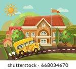back to school vector... | Shutterstock .eps vector #668034670