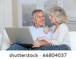 senior couple surfing on... | Shutterstock . vector #66804037