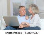 senior couple surfing on...   Shutterstock . vector #66804037