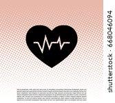 heartbeat vector icon.  | Shutterstock .eps vector #668046094