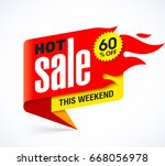 hot sale banner design template ... | Shutterstock .eps vector #668056978