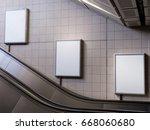 mock up poster media template...   Shutterstock . vector #668060680