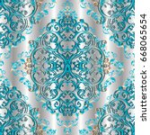 light baroque seamless pattern. ...   Shutterstock .eps vector #668065654