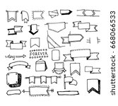 doodle hand drawn page designs. ... | Shutterstock . vector #668066533