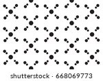 monochrome simple atom pattern | Shutterstock .eps vector #668069773