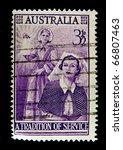 australia   circa 1953  stamp... | Shutterstock . vector #66807463