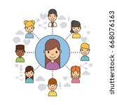 applications people network | Shutterstock .eps vector #668076163