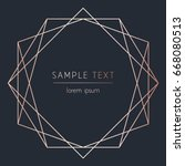 vector modern design template... | Shutterstock .eps vector #668080513