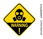 gas mask and warning sign... | Shutterstock .eps vector #668080924