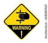 warning   crush hazard sign.... | Shutterstock .eps vector #668080969