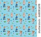 watercolor seamless pattern... | Shutterstock . vector #668081698