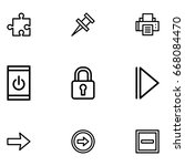 web interface icon set