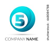 number five logo symbol in the... | Shutterstock . vector #668084788