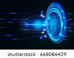 security technology fingerprint ... | Shutterstock .eps vector #668086429